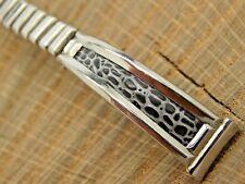 NOS Vintage Stainless Steel & Lizard Watch Band 11mm Unused Bracelet Fidelity