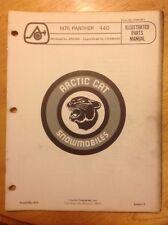 Arctic Cat Snowmobile Parts Book Manual 1975 Panther 440
