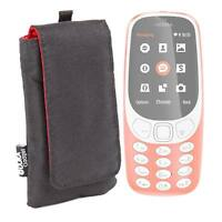 Duragadget | Black Cushioned Case / Pouch for Nokia 3310 3G Mobile Phone