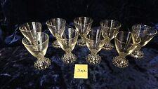 9 Vintage Candlewick Stemmed Glassware 3oz Glasses