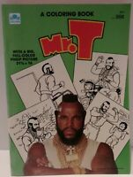 Vintage Mr. T Coloring Book By Golden - Full Color  Poster 1984, Mint Condition.