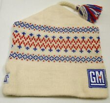 MURRAY MERKLEY GM/ Calgary Olympics 1988 hand knit wool ski hat tassel EUC