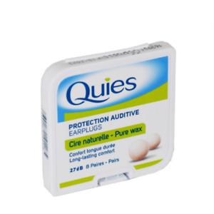 Quies Pure Natural Wax Ear Plugs x 8 Pairs (FREE UK P&P )