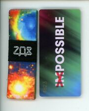 Small ZOX Silver Strap POSSIBLE Wristband with Card Reversible