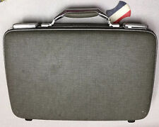 Vintage Mid Century Hard Shell Gray American Tourister Tiara Carry On Suitcase