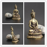 Collection China Handwork carving Pure brass Sakyamuni Buddha small statue Hot