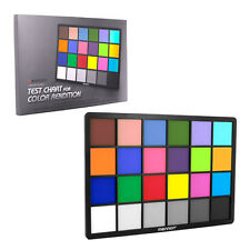 "Mennon Test Color Chart with 24 Colors,Small 8 inch x 6 inch (8"" x 6"") US seller"