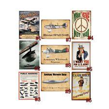 Retro Metal Tin Signs US Air Force Vintage Make Love Not War Art Wall Decor