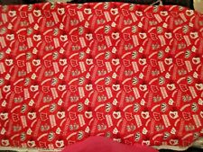 """Uw Madison Wisconsin Badger's Cotton fabric by the yard Red Bucky Badger 36"""" x 4"""