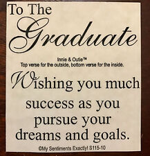 NEW MSE! My Sentiments Exactly! Unmounted Rubber Stamp S115-IO Graduate