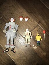 It Clown Figurine Movie Goergie Boat Balloon 9 & 4 In Removeable Heads Poseable