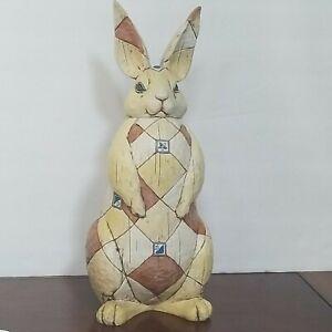 """Jim Shore Enesco Large Bunny Rabbit 17"""" HeartWood Creek"""