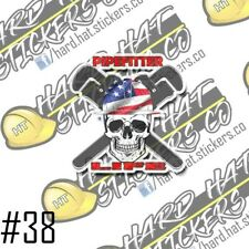 Pipefitter Hard Hat Stickers (3Pack)