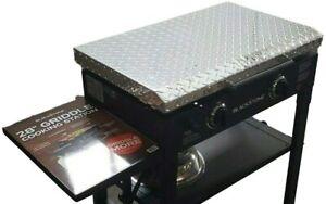 "Aluminum Lid Storage Cover for 28"" Blackstone Griddle - Diamond Plate"