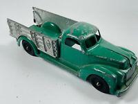 Vintage Cast Diecast Green Hubley Kiddie Toy Farm Stake Bead Truck
