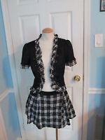 bebe 2pc skirt suit jacket 6 wrap skirt 2                #443