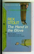 THE HAND IN THE GLOVE by Rex Stout, rare US Pyramid #1066 crime pulp vintage pb