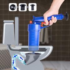 Toilet Clean High Pressure Pump Air Drain Blaster Plunger Sink Pipe Clog Remover