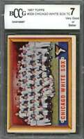 Chicago White Sox Tc Team Card 1957 Topps #329 BGS BCCG 7