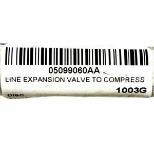 2004-2008 CHRYSLER CROSSFIRE EXPANSION VALVE TO COMPRESSOR LINE MOPAR 5099060AA