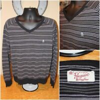 Mens PENGUIN by Munsingwear V-Neck Long Sleeve Sweater Pullover : Size Large L