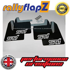 Qty4 Mud Flaps & Fixings SUBARU IMPREZA New Age 01-07 4mm PVC Black STi White