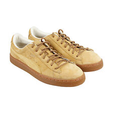 Puma Basket Classic Winterized Mens Tan Leather Lace Up Sneakers Shoes 11