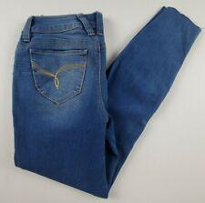 YMI Wanna Betta Butt Womens Jeans Juniors Sz 3 Skinny Raw Distressed Hems Denim