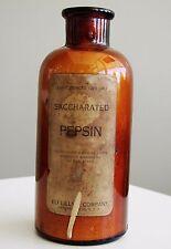 Antique/VTG Drug Store Pharmacy Apothecary Medicine Bottle PEPSIN RX482