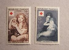 France 1954 Neuf* lot de 2 TP Croix rouge 1006 et 1007