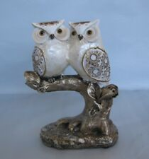 Loving Pair of Owls On A Tree Figurine/Statue Shinny/Glossy Finish *New*