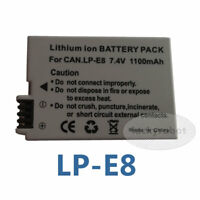LP-E8 LPE8 Battery for Canon EOS 550D 600D Kiss X5 T2i