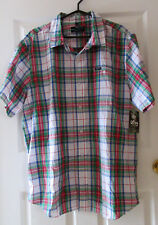 LRG 2XL Mens Short Sleeve Button Front Shirt Lifted Research Group NWT $69.99