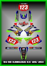 Kawasaki KX125-250 94-98  SEMI CUSTOM GRAPHICS KIT SPLITFIRE TWO