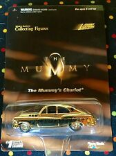 """NIB Johnny Lightning, White's Guide """"The Mummy's Chariot"""" Gold diecast car"""