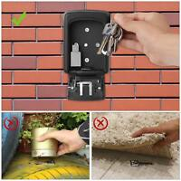 Key Storage Lock Box with 4-Digit Combination, Wall Mounted Key Safe Box