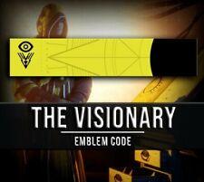 "Destiny 2 ""The Visionary"" Emblem Code for Playstation, Steam or Xbox Live"