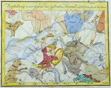1777 Johann Elert BODE rare ORIGINAL handcol. CELESTIAL CHART
