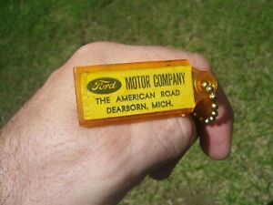 Vintage 1960' s Ford accessories nos promo fomoco auto key holder fob part oem