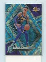 KYLE KUZMA 2018-19 Panini Spectra KYLE NEON BLUE PRIZM Base Card #D /75 Lakers