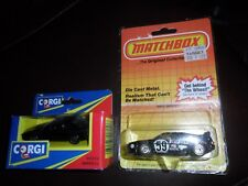 2 LOT 1983 Matchbox Black Pirelli #59 BMW M1 Sports Ralley Car #52 Macau & Corgi