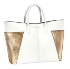 JIMMY CHOO STUNNING WHITE & GOLD DESIGNER LADIES TOTE/SHOPPER HAND BAG XMAS GIFT