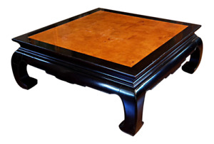 Ethan Allen Ming Dynasty Chinoiserie Style Square Cocktail Table