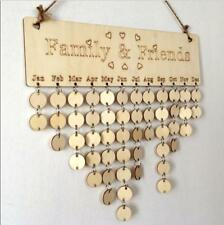 Nordic Wood Reminder Board Birch Ply plaque Sign Family &Friends DIY Calendar