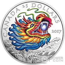 DRAGON Boat Race Silver Coin 25$ Canada 2017