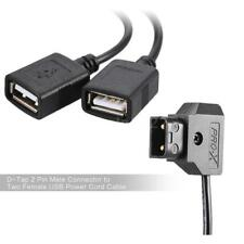 D-Tap 2 Pin Male Connector to Two Female USB Power Cord Cable for iPhone P7P4