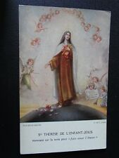 """CPSM Ste Thérèse of the child jesus revenant on the earth for """"faire aimer"""