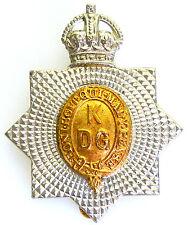 1ST KINGS DRAGOON GUARDS 1915 - 37 CLASSIC GENUINE RARE REGIMENTAL CAP BADGE