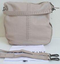 Liebeskind Berlin Niva Shoulder Bag Hobo Beige Leather Removable Shoulder Strap