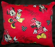 New Handmade Mini Disney Minnie Mouse Red Flannel Travel/ Car /Toddler Pillow